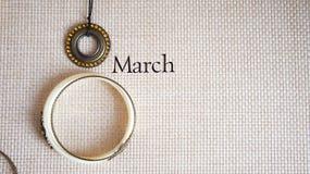 Stiliserad collage till den internationella dagen för kvinna` s, mars 8, Royaltyfri Fotografi
