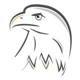 Stiliserad Eagle huvuddesign Arkivbild