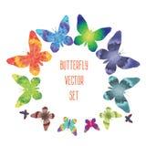 Stiliserad fjäril, polygonal textur Vektor Illustrationer