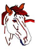 Stiliserad häst Arkivbild