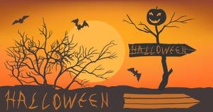 Stiliserad halloween bokstäver Royaltyfri Fotografi