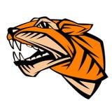 Stiliserad illustration för tigerhuvudvektor Arkivfoton