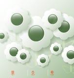 Stiliserad infographic mall med blommabubblor Royaltyfri Bild