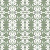 Stiliserad irisblomma Sömlös blom- modell för två färg royaltyfri illustrationer