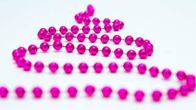 Stiliserad julgran från små rosa bollar Arkivfoton