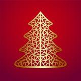 Stiliserad julgran. Vektorillustration. Arkivbild