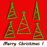Stiliserad julgranuppsättning med den gröna stjärnan. Arkivbild