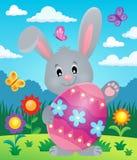 Stiliserad kanin med tema 5 för påskägg Arkivfoton