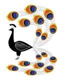 Stiliserad påfågel Royaltyfria Foton