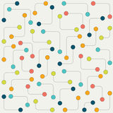 Stiliserad prickmodell Abstrakt begrepp stiliserad molekylär isolerad vektorbakgrund Arkivbilder