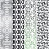 Stiliserad prydnadtextur med den blommiga modellen Retro karaktärsteckningar tappning för textur för färgrikt detaljytterhus gamm Arkivfoton