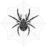 Stiliserad spindel Royaltyfri Fotografi