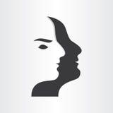 Stiliserad symbol för design för manframsidaabstrakt begrepp Royaltyfri Foto