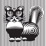 Stiliserad teckning av en katt Royaltyfri Bild