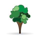 Stiliserad trädillustration royaltyfri bild