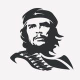 Stiliserad vektorstående av Che Guevara royaltyfri illustrationer