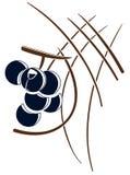 Stiliserade druvor i abstrakt sammansättning stock illustrationer