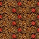 Stiliserade exotiska blommor Traditionaln södra östlig Asien prydnad Populärt i Buddhatempelgarnering horisontal Royaltyfria Bilder