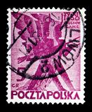 Stiliserade infanterister, 100. årsdag av polska November U Royaltyfri Foto