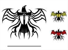 Stiliserade konstnärliga Eagle vektor illustrationer