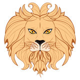 Stiliserade Lion Head Royaltyfri Fotografi