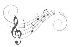 Stiliserade musikanmärkningar royaltyfri illustrationer