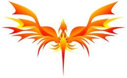 Stiliserade phoenix Arkivfoton