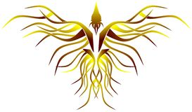 Stiliserade phoenix Arkivfoto