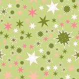 Stiliserade rosa stjärnor för sömlös textur blommor och stjärnor Arkivfoton
