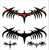 Stiliserade svartvingar stam- prydnad vektor illustrationer