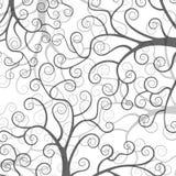 Stiliserade träd på vit bakgrund Arkivfoto