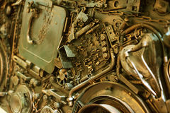 Stiliserat av en mekanisk steampunk Arkivbild