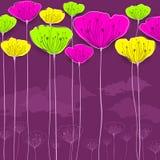 Stiliserat blommakort Royaltyfri Foto