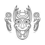 Stiliserat demonhuvud Royaltyfri Illustrationer