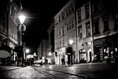 Stiliserat foto av stadens gamla gata Fotografering för Bildbyråer