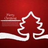 Stiliserat kort för julträd Arkivfoto