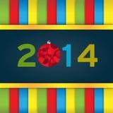 Stiliserat nytt år Arkivbild