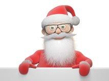 Stiliserat Santa Claus tecken Arkivbilder