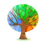 Stiliserat träd - fyra säsonger Royaltyfria Bilder