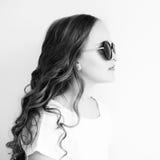 Stilish litle girl in sunglasses Stock Image