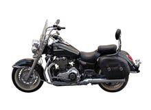 Stilish zwarte motorfiets stock afbeeldingen
