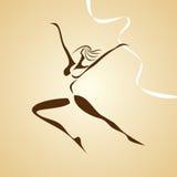 Stilisiert Abbildung des Tanzenmädchens Stockfotos