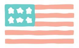 Stilisiert amerikanische Flagge Lizenzfreie Stockfotografie