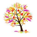 Stilisiert Apfelbaum Lizenzfreie Stockbilder