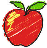 Stilisiert Apple Lizenzfreies Stockbild