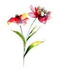 Stilisiert Blumen Lizenzfreie Stockfotografie