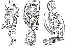 Stilisiert Drachen Lizenzfreie Stockfotos