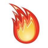 Stilisiert Feuer Stockfoto