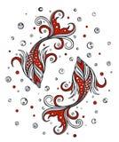 Stilisiert Fische Stockfoto