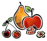 Stilisiert Früchte Lizenzfreies Stockfoto